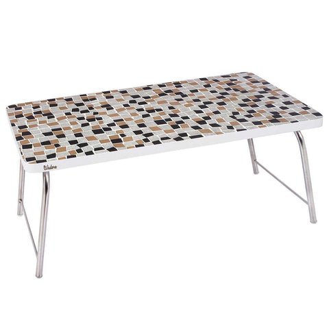 Laptop Table With Folding Steel Legs - Mosaic | Wudore