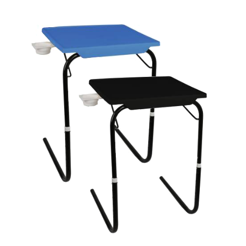 Multi utility Table mate with Black legs Combo pack I Medium Black & Blue