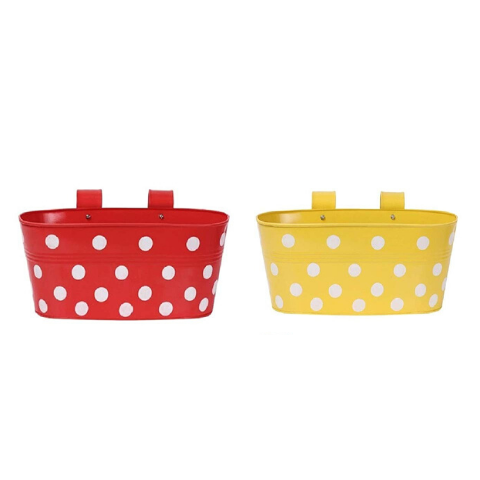 Hanging Flower Pots Small Yellow & Red - Wudore.com