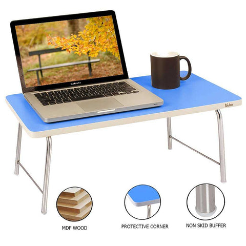 Laptop Table with folding legs Blue colored optimal design | Wudore