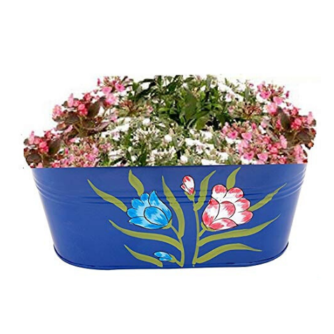 Handpainted Hanging planters Blue variant I Wudore.com