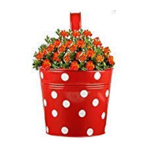 Handpainted Hanging planters Dotted design - Wudore.com