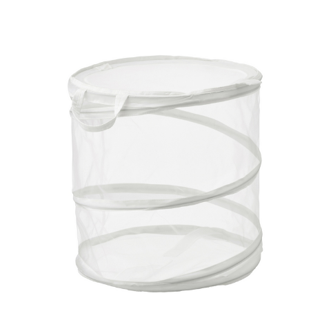 Laundry basket with lid, White, 80 Liter - Wudore.com