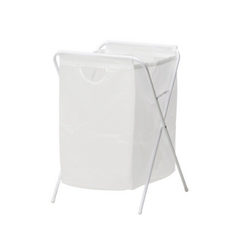 Laundry basket with stand White 70-Liter - Wudore.com