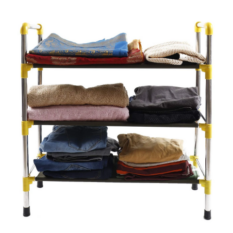 Laundry storage rack 3 tier shelves I Wudore.com