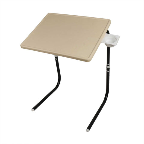 Multipurpose Tablemate with Black legs and Beige finishing | Wudore
