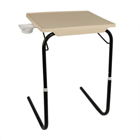 Multipurpose Tablemate with Black legs - Finish color Beige