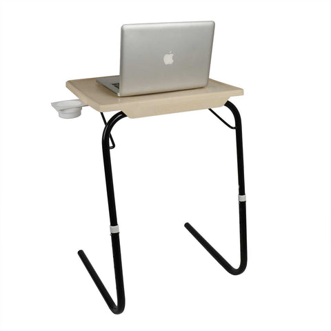 Laptop Tablemate with Black legs and Beige finishing | Wudore