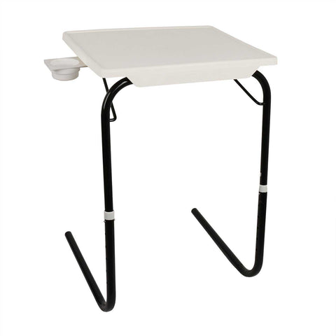 Tablemate with black legs and white finishing | Wudore