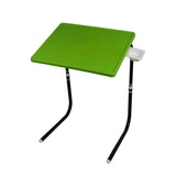 Table mate with black legs and green finishing | Wudore