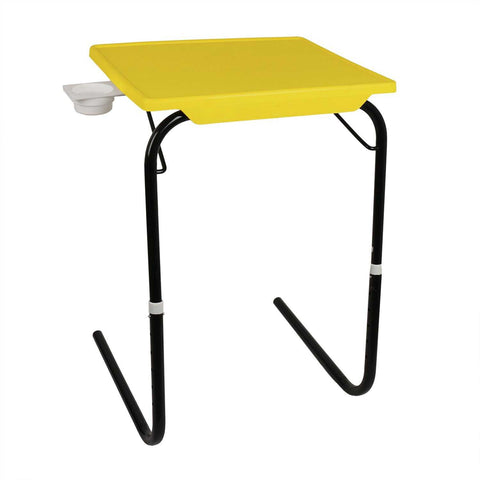 Tablemate with black legs and yellow finishing | Wudore