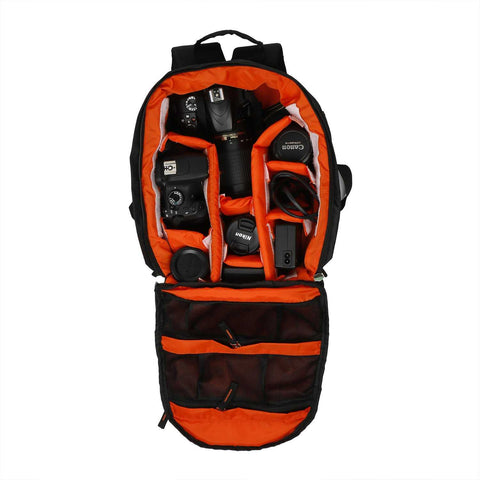 Copperzeit Professional DSLR/SLR Camera Bag/Camera Lens Shoulder Backpack Case (Orange) | Wudore