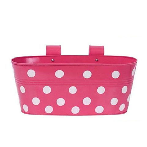 Hanging Flower Pot Dotted design I Small Pink