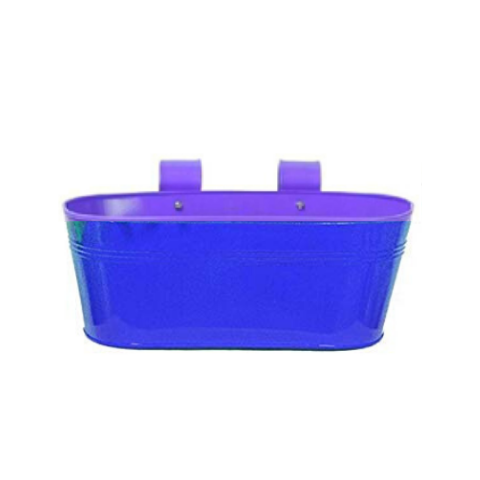 Hanging flower pot Plain pattern I Small Blue