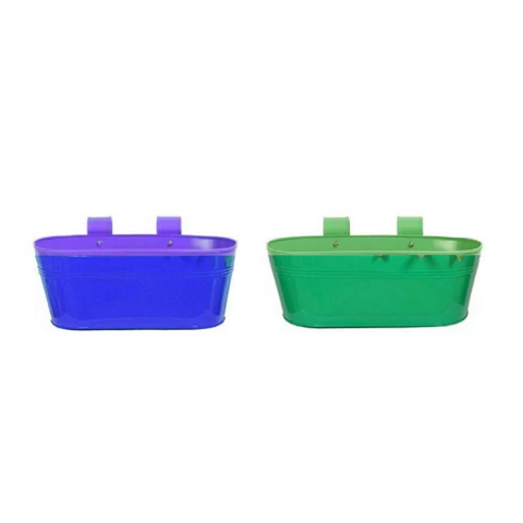 Hanging Flower Pots Plain pattern Small Blue & Green - Wudore.com