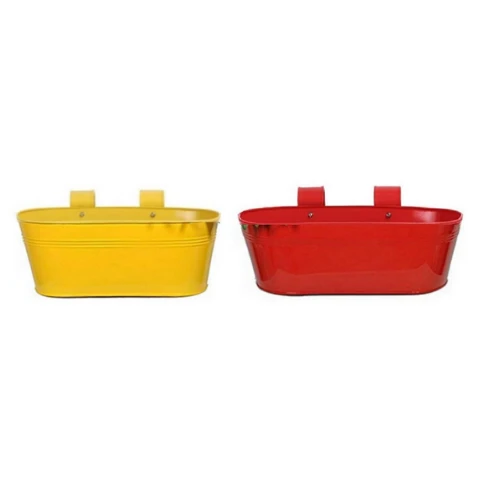 Hanging Flower Pots @Buy-1-Get-1 Plain pattern I Small Red & Yellow - Wudore.com