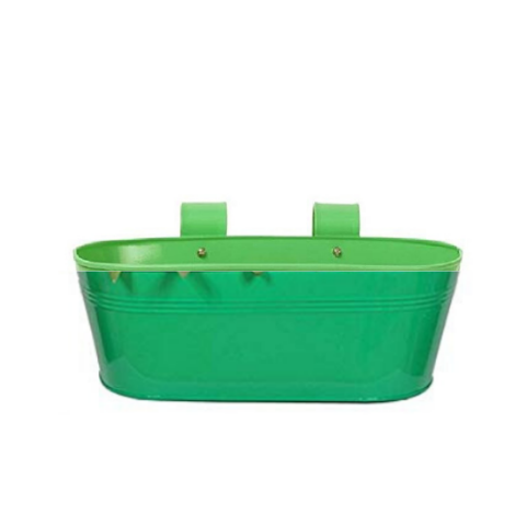 Hanging flower pot Plain pattern I Small Green