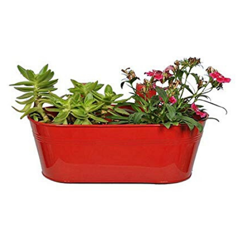 Hanging flower pot Plain pattern Small Red - Wudore.com