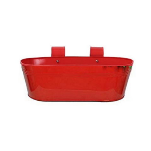 Hanging flower pot Plain pattern I Small Red