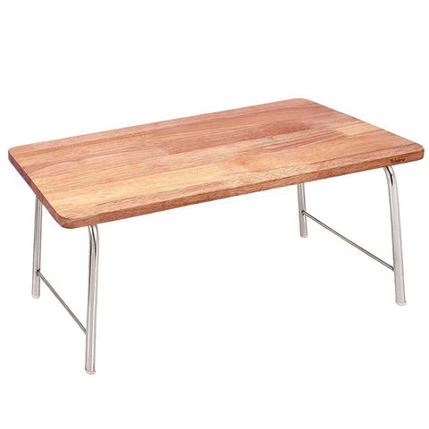 Laptop Table With Folding Steel Legs - Natural wood | Wudore