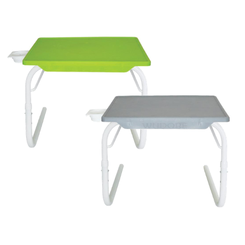Multi utility Table mate with White legs Buy-1-Get-1 I Small Green & Grey