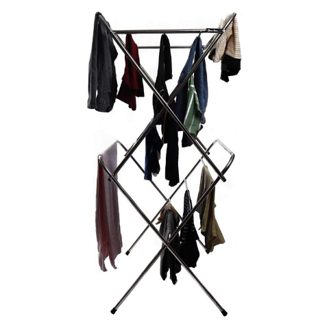 Clothes drying scissor rack Standard size I Wudore.com