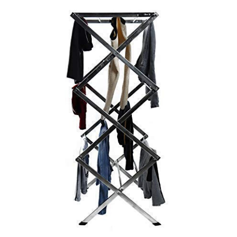 Clothes drying scissor rack I Wudore.com