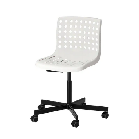 Swivel chair without armrest Black-White I Axis-360