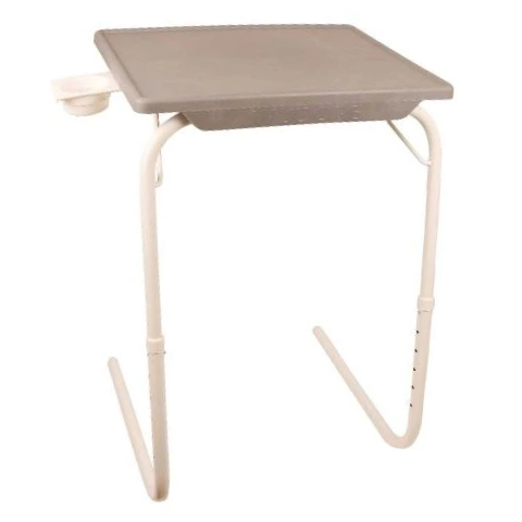 Multi utility Table mate Grey with White legs I Wudore.com