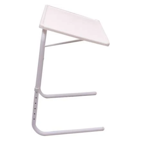 Multi utility Table mate with White legs Buy-1-Get-1 I Medium Black & White