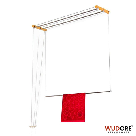 Ceiling cloth hanger for Balcony in 3 lines Super Luxury model - Wudore.com