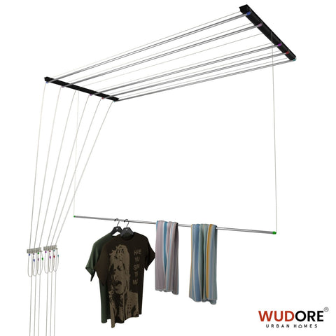 Pulley cloth drying hanger in 6 lines - 16mm OD