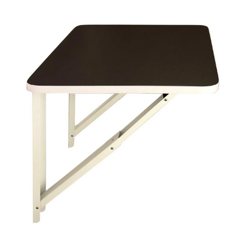 Wall mounted folding Desk I Medium Wenge with White