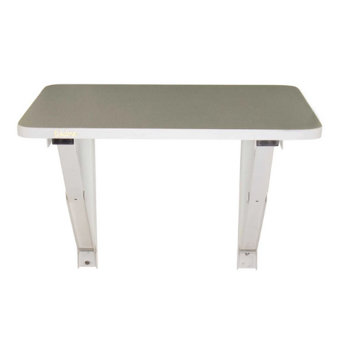 Laptop table with folding attachment Grey variant I Wudore.com