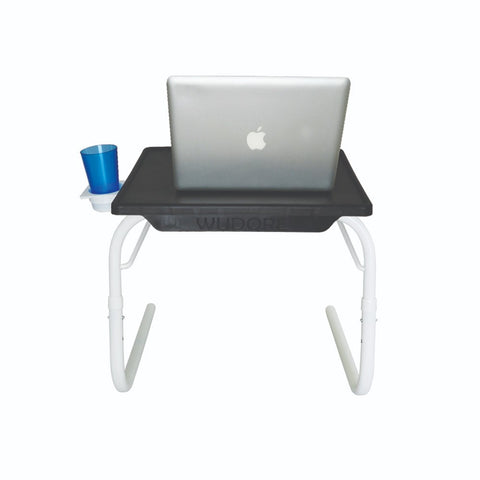 Multipurpose Tablemate - Black Top with White Legs - Small | Wudore
