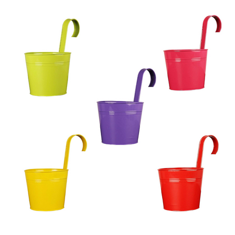 Multi pack Hanging Flower Pots Set of 5 - Wudore.com