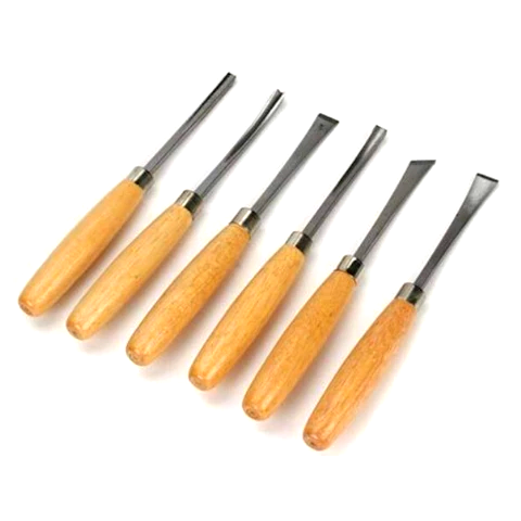 Wood carving chisel 6pc set I Palm Handle