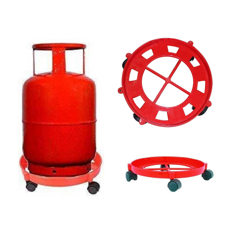 Gas Cylinder Trolley with Wheels - Wudore.com