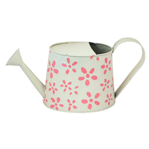 Hand Painted Garden Watering Can White - Wudore.com
