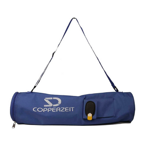 YogaMat Carry Bag with Pouch and Name Tag I Blue