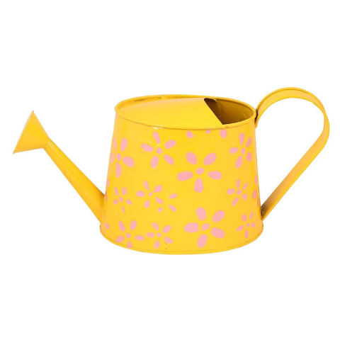 Hand Painted Garden Watering Can Yellow - Wudore.com
