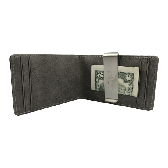 Fold-Clip Black/Grey Folding Money Clip