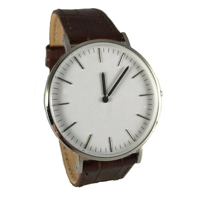 Low-Pro - White / Brown Leather Watch
