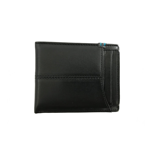 Escape Sleeve Black Leather Bi-Fold Wallet