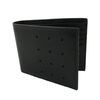 Slim-Fold Black Bi-Fold Leather Wallet