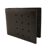 Slim-Fold Brown Bi-Fold Leather Wallet