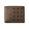 Slim-Fold Brown/Cream Bi-Fold Leather Wallet
