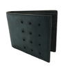 Slim-Fold Navy/Black Bi-Fold Leather Wallet