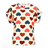 Women's Short-Sleeved Chiffon Top
