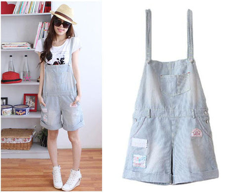 Woman's Denim Short Rompers
